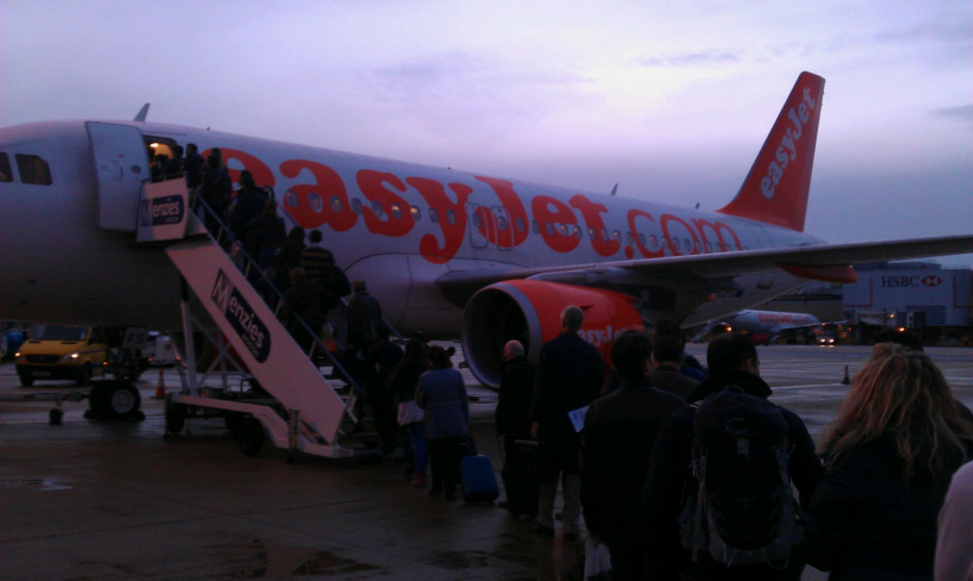 Boarding an EasyJet
